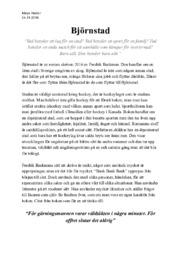 Björnstad | Analys