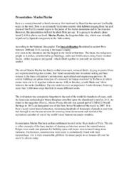Presentation – Machu Picchu | Engelska