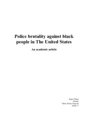 Police brutality against black people in The United States