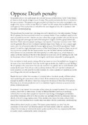 Oppose Death penalty | Engelska