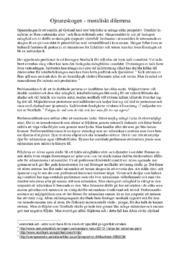 Ojnareskogen – moraliskt dilemma | Filosofi