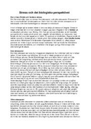 Stress och det biologiska perspektivet