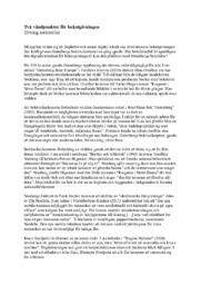 Två vändpunkter för bokutgivningen (övning nationella)