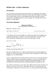 Written task – a Police statement | Engelska