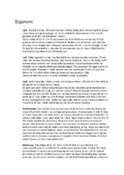 Ergonomi | Idrott och Hälsa