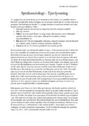 Språksociologi – Tjuvlyssning   Svenska