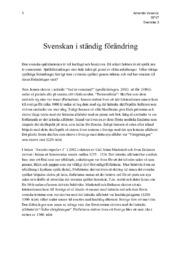 Svenskan i ständig förändring   Svenska