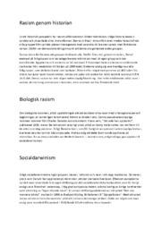 Rasism genom historian | Historia