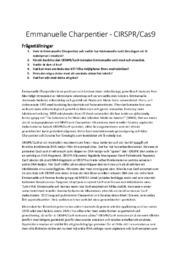 Emmanuelle Charpentier | CIRSPR Case 9