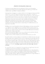 Jämförelse Abrahamitiska religionerna | Historia