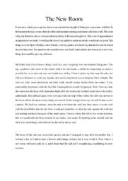 The New Room | English Essay