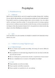 Projektplan | Teknisk | A i betyg