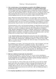 Biologiska perspektivet | Psykologi | A i betyg