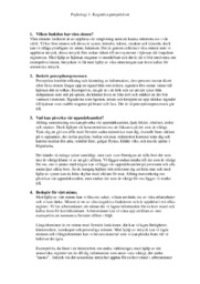 Kognitiva perspektivet | Psykologi | A i betyg