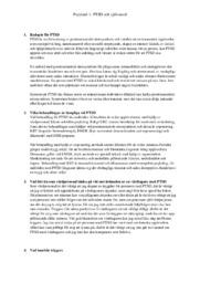 PTSD och självmord | Psykiatri | B i betyg