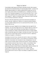 Religion och identitet | Religion uppgift