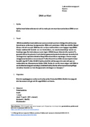DNA ur Kiwi | Labbrapport | Naturkunskap