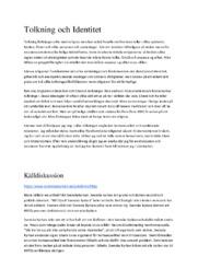 Tolkning och Identitet | Religionkunskap | A i betyg