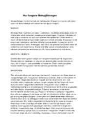 Biologi   Hur fungerar matspjälkningssystem   A i betyg
