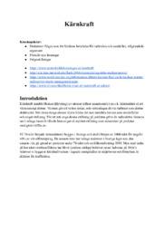Kärnkraft | Fysik | Uppgift | C i betyg