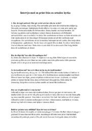 Intervju med en präst från ortodox kyrkan (Redovisning) | C i betyg