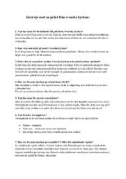 Intervju med en präst från svenska kyrkan (Redovisning) | Religion