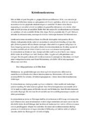 Kristdemokraterna fördjupningsuppgift | B i betyg