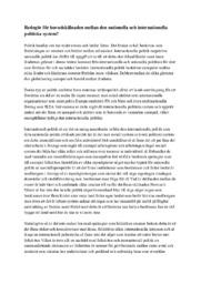 Samhällskunskap | Internationella relaktioner | C i betyg