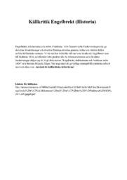 Källkritik Engelbrekt (Historia)