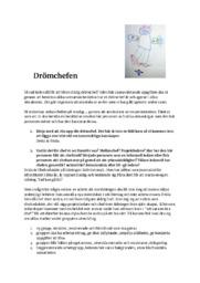 Drömchefen | Ledarskap och organisation | B i betyg