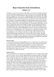 Begravningsriter inom kristendomen | B i betyg