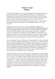 Kristna i Sverige | B i betyg