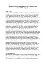 Liberalism, socialliberalism, nyliberalism | A i betyg