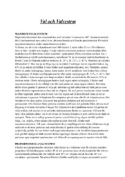 Val och Valsystem | A i betyg