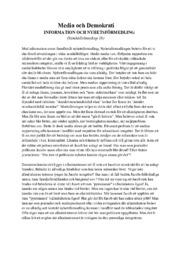 Media och Demokrati | Samhällskunskap uppgift