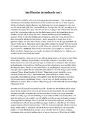 Äta Hundar (utredande text) | Svenska uppgift