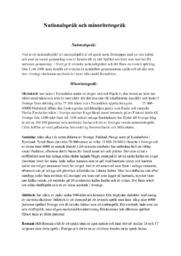 Skillnaden mellan National och minoritetsspråk  | Ci betyg