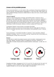 Atomen och det periodiska systemet | B i betyg
