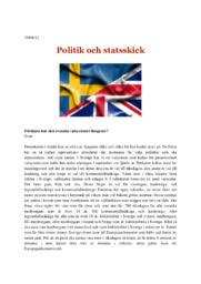 Politik och statsskick | B i betyg