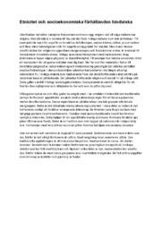 Etnicitet och socioekonomiska förhållanden hinduiska | Religion
