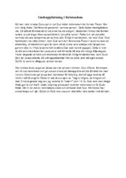 Gudsuppfattning i Kristendom | Religion | B i betyg
