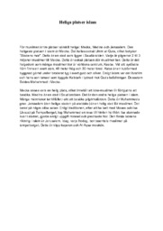 Heliga platser islam | B i betyg | Religion Uppgift