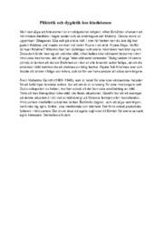 Pliktetik och dygdetik hos hinduismen   Uppigft