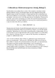 Cellmembran | Elektrontransporten i detalj | A i betyg