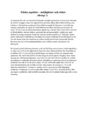 Etiska aspekter | möjligheter och risker