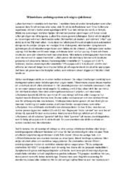 Människans andningssystem och några sjukdomar