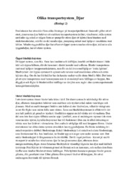 Olika transportsystem | Djur | A i betyg