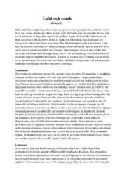 Lukt och smak | Biologi | B i betyg