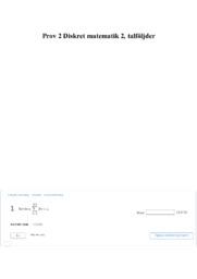 Prov 2 Diskret matematik 2 | talföljder