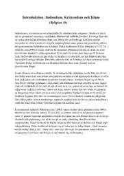 Introduktion   Judendom, Kristendom och Islam   A i betyg